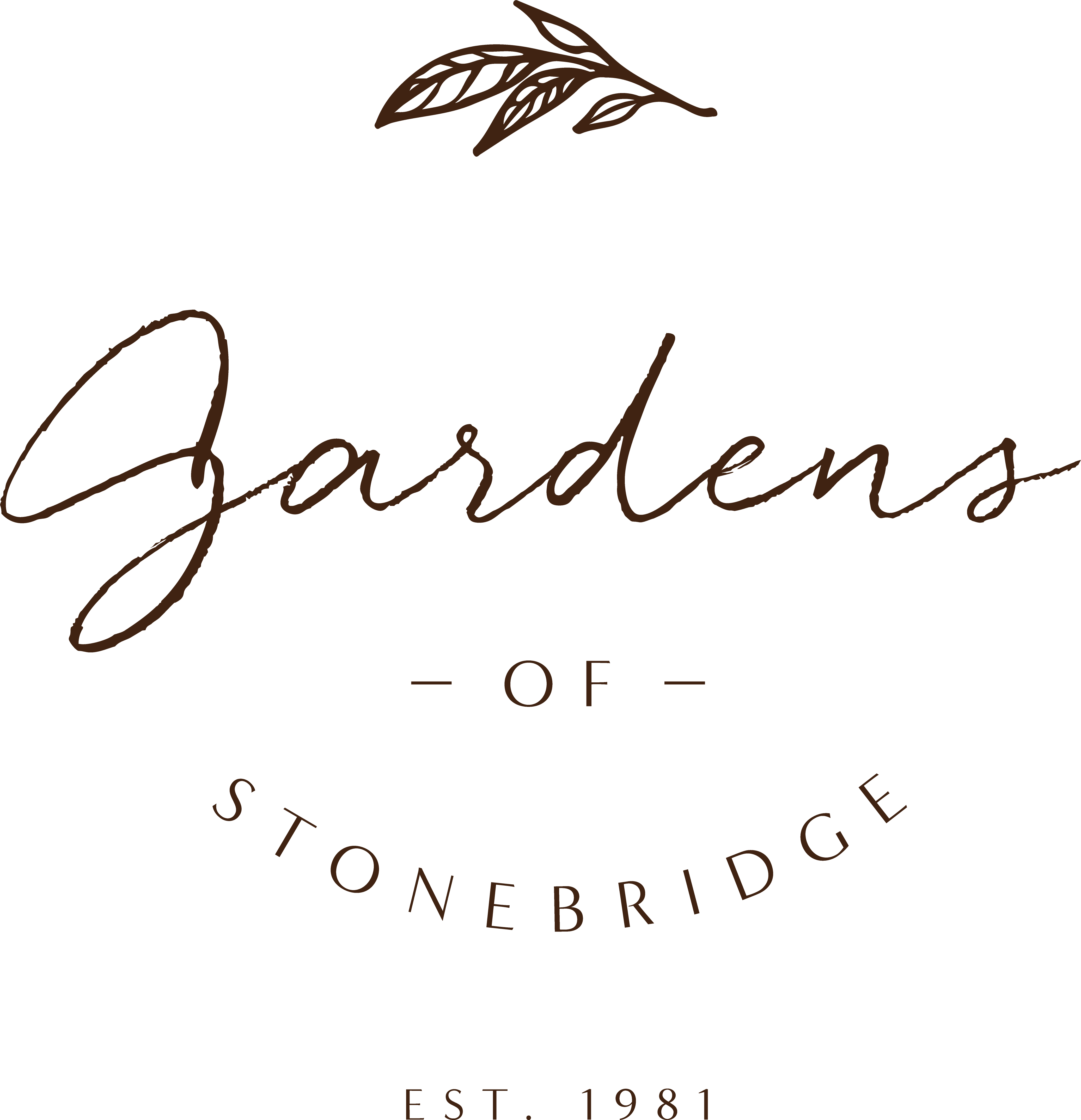 the logo of gardens of stonebridge